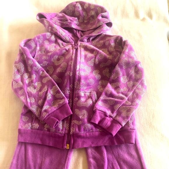 Purple Velour Jumpsuit 18 months